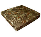 wf05t Brown Gold Brown Olive Khaki Flower Thick Cotton 3D Box Seat Cushion Cover
