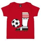 ENGLAND SUPPORTERS BABY BOYS FOOTBALL BOOT RETRO WORLD CUP ENVELOPE T-SHIRT