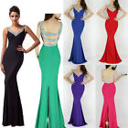 Wedding Sexy Mermaid Backless Bridesmaid dress Bridal Party Gown stock Size 6-18