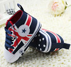 Infant Baby Boy Union Jack Crib Shoes Soft Sole Sneakers Navy 0- 18 Months/B22