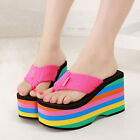 Free P&P Women's Casual Flip Flops Platform Shoes Wedges Sandals Sweety Slippers