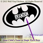 BATMAN LOGO WALL STICKER CUSTOM Personalised Name LG