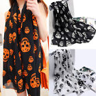 Hot Women Soft Long Chiffon Neck Shawl Skull Head Scarf Scarves Warm Stole Wraps