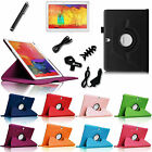 "For Samsung Galaxy Tab Pro 10.1"" Rotating Stand Leather Cover Case + Accessories"