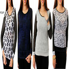 T37 New Womens Mesh Long Sleeves Party Evening Work Chic Plus Size Tops Blouse