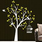 Large Jungle Tree Birds Cage Wall Art Stickers Vinyl Decal Home Decor Manul Diy
