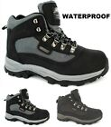 MENS HIKING WATERPROOF GENTS BOOTS LEATHER UPPER WALKING TREKKING LACE UP BOOT