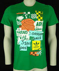 ADIDAS ORIGINALS G PHOTO FLASH TEE T-SHIRT MENS GREEN MULTI CASUAL RETRO BNWT