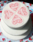 Baby Shower Heart Pink | Cupcake | Cake | Edible Toppers x 8 | Personalise