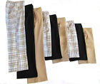 WOMEN'S GOLF LONG PANT TAN OR BLACK OR PLAID WRINKLE FREE NEW GOLDENWEAR