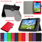 For Acer Iconia One 7 B1-730HD Tablet Premium Leather Folio Stand Case Cover