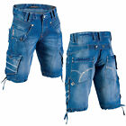 Mish Mash 2135 Chris Coe Mens New Denim Cargo Combat Summer Shorts Was £59.99