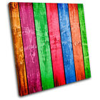 Fence Funky  Abstract SINGLE CANVAS WALL ART Picture Print VA