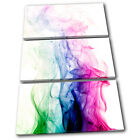 Cool Smoke Design Abstract TREBLE CANVAS WALL ART Picture Print VA