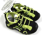 Ex Koala Kids Boys Babies Black Green Velcro Elastic Trainer Sandals Shoes BNWT