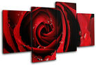 Roses Love Flowers Floral MULTI CANVAS WALL ART Picture Print VA