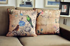 French Country Retro Bird Cotton Linen Decorative Cushion Cover Throw Pillow