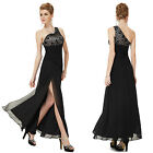 Ever Pretty Black Lace Slitted Long Evening Cocktail Party Formal Dresses 08197