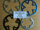 Chainrings 5 Hole 58 94 mm BCD PCD Chain Rings 20 22 32 42 44 46 Chainring Ring