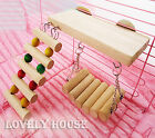 Flexible Wooden Toys Rat Mouse Hamster Birds Hanging Ladder Bridge Shelf Cage