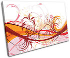 Abstract Flowers Floral SINGLE CANVAS WALL ART Picture Print VA