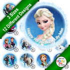 Disneys Frozen Elsa and Anna Edible Photo Icing Round Circle Cake Topper C