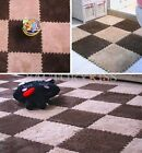9x Soft Plush Floor Foam Puzzle Mats Bedroom Living Room Baby Crawling Pad FKS
