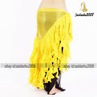 belly dance hip scarf newest chiffon ruffle fringes belt skirt 5 colors exclusiv