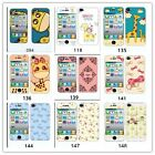 Colourful Cartoon Screen Protector Front Back Skin Sticker For  iPhone 5/5S 4/4S