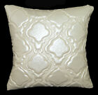 pj04a Pearl Diamond Faux Leather Soft Emboridered Foam Backing Cushion Cover