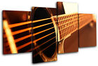 Guitar INSTRUMENTS  Musical MULTI CANVAS WALL ART Picture Print VA