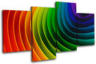 Rainbow Design Abstract MULTI CANVAS WALL ART Picture Print VA