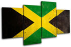Abstract Jamaican Maps Flags MULTI CANVAS WALL ART Picture Print VA