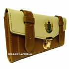 ♥♥ BNWT Tan LYDC Designer Womens Celebrity Vintage Satchel Purse Wallet Boxed ♥♥