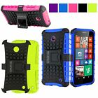 For Nokia Lumia 630 phone Hard Soft Hybrid Rugged Armor Kickstand Case Cover New