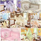14pcs EMBROIDERED NURSERY/BABY BEDDING SET/COT/COTBED/120x60/140x70/SHEET/CANOPY