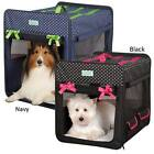 Cruising Companion Polka Dot Collapsible Dog Pet Crate Water Resistant Fold Down