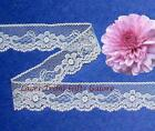 """7/14 Yards White Lace Trim Vintage 7/8"""" Floral N28AV Buy More-Ship No Charge"""