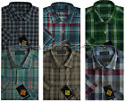 New Mens Short Sleeve Yarn Dyed 100%Cotton Check Shirt 15.5/16.5/17.5