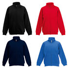 New Fruit Of The Loom Kids Casual Long Sleeved Zip Up Fleece Jacket Ages 5-15