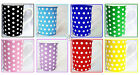 Dots Mugs Fine Bone China Set of 6 Black Blues Green Pink Purple Red Yellow