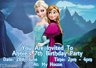 FROZEN DISNEY  Personalised Birthday Party Invitations A6 + envelopes d4 GIRLS