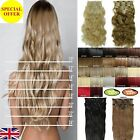 Best price straight curly One Piece half head Clip In Hair Extension Many colour