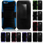 For Apple Iphone 6 4.7 INCH Rugged Side Stand Holster Cover Case + LCD Screen
