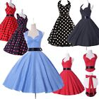 FINAL CLEARNCE Vintage Dress 50s 60 Polka Dot Rockabilly Retro Evening Prom Gown