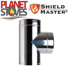 Stainless Steel Shieldmaster 90 Degree Tee Piece Twin Wall Insulated Flue Pipe