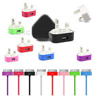 MAINS CHARGER PLUG + 30PIN SYNC DATA CABLE LEAD FOR IPHONE 4 4S 3GS 3 ipod Touch