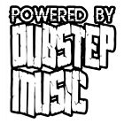 POWERED BY DUBSTEP MUSIC (electronic remix poster dub club cd edm dance) T-SHIRT