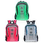 Fashion Mp3 Boom Speaker Backpack BookBag with Black Battery Cover (No battery)