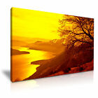 LAKE COMO Italy At Sunset Canvas Framed Printed Wall Art - More Size